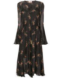 Zimmermann Black Floral Spotted Long Sleeved Dress
