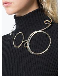 Vionnet - Metallic Swirl Hook Necklace - Lyst