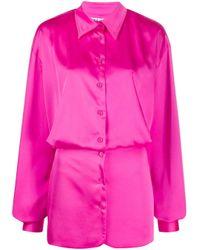 Robe-chemise courte The Attico en coloris Pink