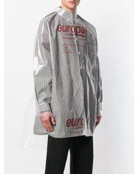 Balenciaga - Gray Bal Dry Clean Button Down Shirt for Men - Lyst