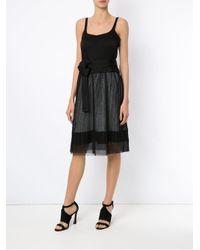Gloria Coelho Black Pleated Gown