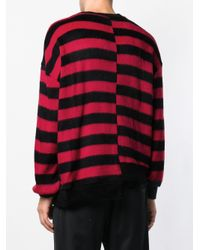 D.GNAK - Red Striped Pattern Asymmetric Sweater for Men - Lyst