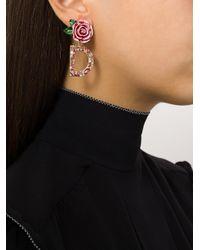 Dolce & Gabbana - Multicolor Dg Rose Drop Earrings - Lyst