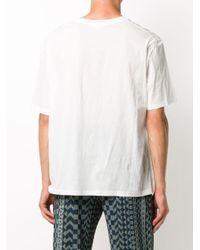 メンズ Jil Sander パッチポケット Tシャツ White