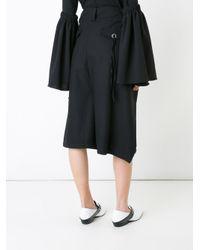 MAX.TAN Black 'serge' Cropped Trousers