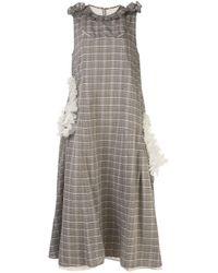 Renli Su ラッフル ドレス Multicolor