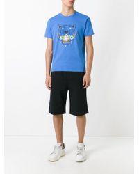 KENZO Blue Tiger T-shirt for men