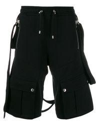 Bermuda à poches multiples Balmain pour homme en coloris Black