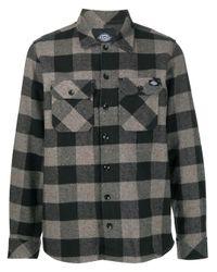 メンズ Dickies Construct チェックシャツ Gray