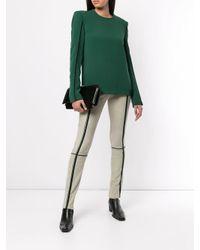 Legging en daim à rayures Haider Ackermann en coloris Green