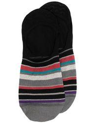 Paul Smith Gestreifte Sneaker-Socken in Black für Herren