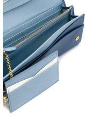 Prada Blue Wallet