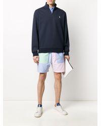 メンズ Polo Ralph Lauren ハーフジップ ポロシャツ Blue