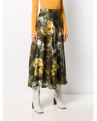 Erika Cavallini Semi Couture Fantasia プリント スカート Multicolor
