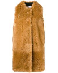 Faux Fur Long Gilet MSGM, цвет: Multicolor