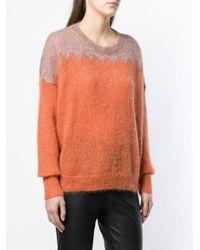 Isabel Marant コントラストパネル セーター Orange