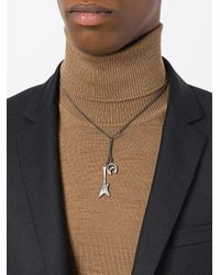 Maison Margiela - Gray Star And Horseshoe Necklace for Men - Lyst