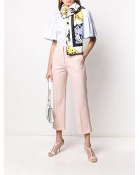 Stella McCartney クロップド ストレートパンツ Pink