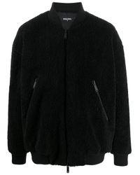 メンズ DSquared² テクスチャード ボンバージャケット Black