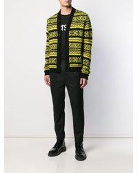 Кардиган Вязки Интарсия Versace для него, цвет: Black