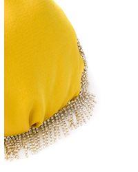 Rosantica ビジュー サテンバッグ Yellow