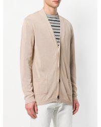 Laneus - Natural V-neck Cardigan for Men - Lyst