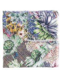 Écharpe à fleurs Faliero Sarti en coloris Multicolor