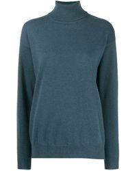 Maglione a collo alto di Brunello Cucinelli in Blue