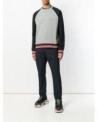 N°21 Gray Relief Playground Motif Sweatshirt for men