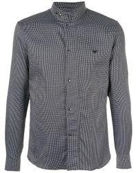 Рубашка С Высоким Воротником Emporio Armani для него, цвет: Black