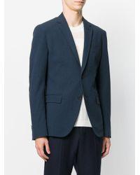 Fendi Blue Fitted Blazer for men