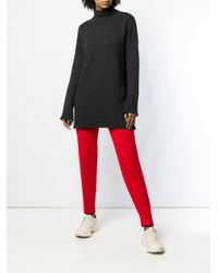 Jersey de cashmere con cuello vuelto de canalé Pringle of Scotland de color Black