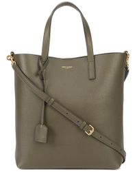 Saint Laurent - Brown Shopping Tote - Lyst