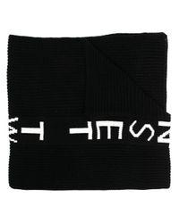 Twin Set ロゴ インターシャ スカーフ Black