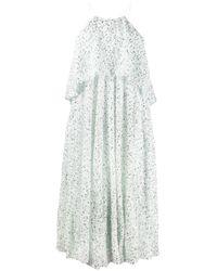 Vestido midi con lentejuelas Halpern de color White