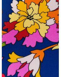 Combinaison isotherme réversible à fleurs LaDoubleJ en coloris Blue