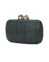 Kayu - Green Woven Clutch Bag - Lyst
