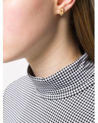 A Wild Original! chunky chain detail stud earrings Wouters & Hendrix en coloris Metallic