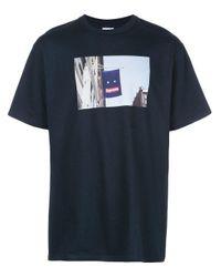 メンズ Supreme プリント Tシャツ Blue