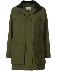 Holland & Holland Green Hooded Military Coat