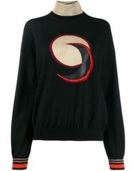 Maglione a girocollo di Paco Rabanne in Black