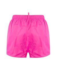メンズ DSquared² ロゴ トランクス水着 Pink