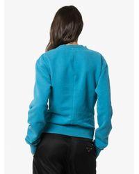 Unravel Project ロゴ スウェットシャツ Blue