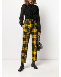 Pantalones con motivo de cuadros Comme des Garçons de color Yellow