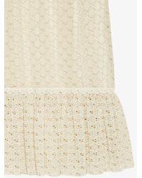Gucci White GG Macramé Long Skirt