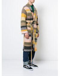 The Elder Statesman - Multicolor Long Striped Cardigan for Men - Lyst