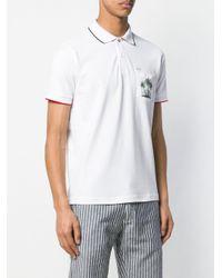 メンズ Sun 68 ポケット ポロシャツ White