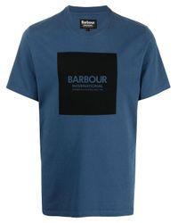 Футболка С Логотипом Barbour для него, цвет: Blue