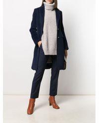 Однобортное Пальто Tagliatore, цвет: Blue