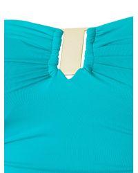Brigitte Bardot Blue Draped Swimsuit
